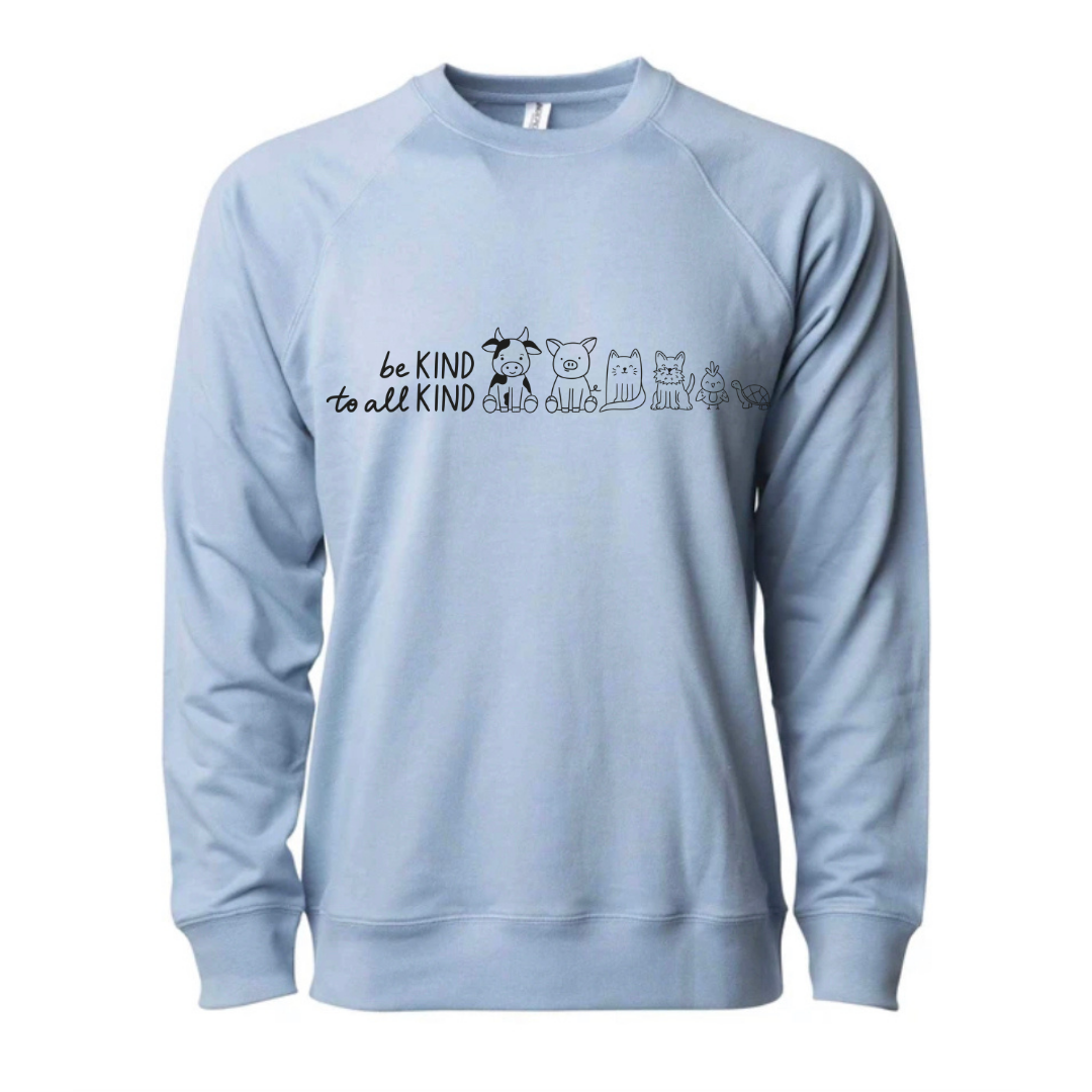Be kind to all kind - full chest design - crewneck