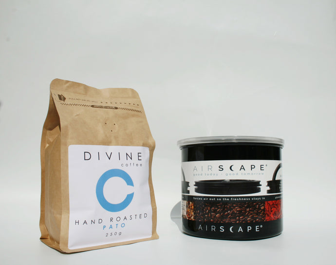 Divine Coffee 250g and Airscape Classic 850ml Bundle