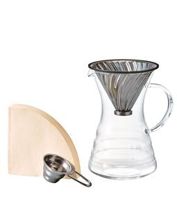 Hario V60 Pour Over Decanter with Metal Dripper