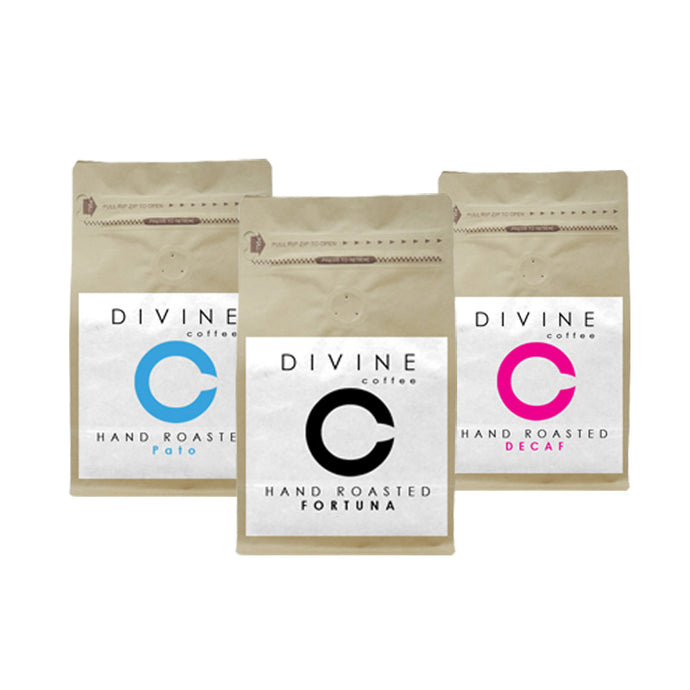 DIVINE COFFEE STARTER SELECTION PACK (3 UNIQUE COFFEES)