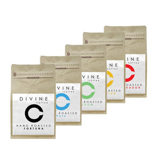 DIVINE STARTER SELECTION PACK (5 UNIQUE COFFEES)