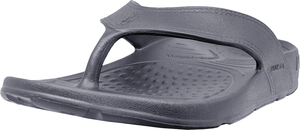 NuuSol Cascade Flip Flop Granite Gray Front Made In USA Flip Flops