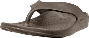NuuSol Cascade Flip Flop Smoked Bronze Front Made In USA Flip Flops