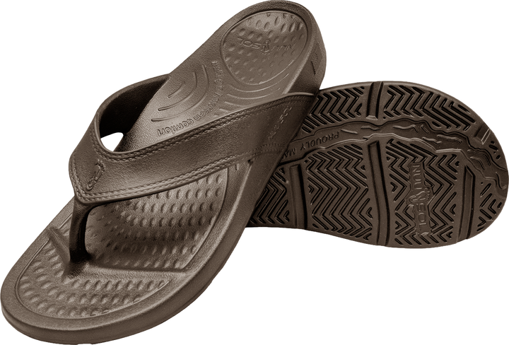 NuuSol Cascade Flip Flop Smoked Bronze Pair Made In USA Flip Flops