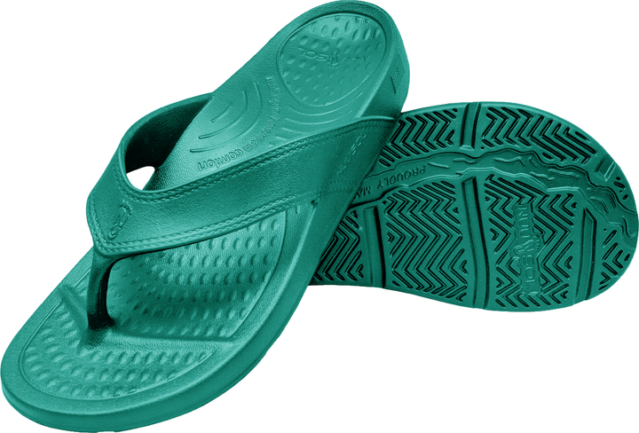 NuuSol Cascade Flip Flop Turquoise Rain Pair Made In USA Flip Flops