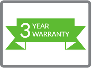 3 year warranty logo and text for digital signage