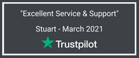 trustpilot review from stuart in march 2021