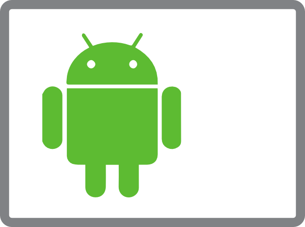 Android media player logo and text for digital signage