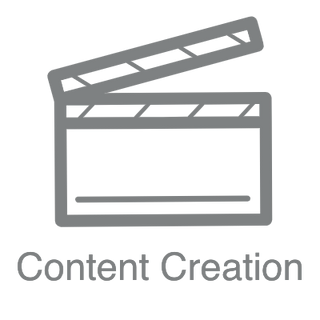 Content Creation logo and text for digital signage store