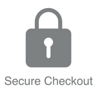 Secure Checkout logo and text for digital signage store