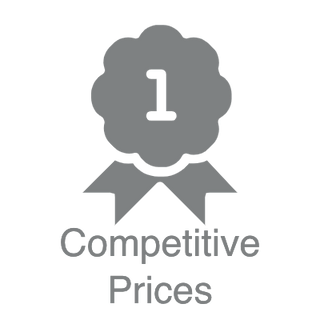 Competitive Prices logo and text for digital signage store