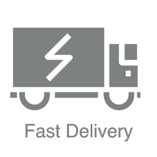 Fast delivery logo and text for digital signage store