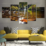 Little Oasis 5 Piece Canvas Art