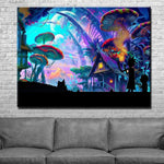 Rick And Morty Mushroom World F*ck You Canvas Art
