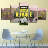 Fortnite Battle Royal Title Screen Canvas Art