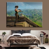 Fortnite Battle Royal Sniper Canvas Art