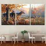 Deers In The Forest Canvas Art - Mystikz Gaming