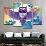 Owl Abstract Canvas Art - Mystikz Gaming
