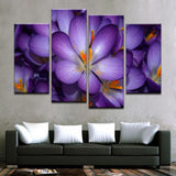Purple Flowers Canvas Art - Mystikz Gaming