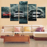 Chevrolet Camaro, Ford Mustang And Shelby Supercars Canvas Art - Mystikz Gaming