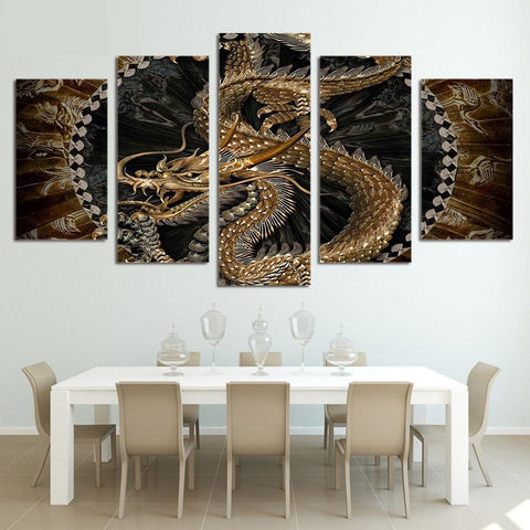 Dragon 5 Piece Canvas Art