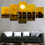 Print Beautiful Sunset Elephant Village Women - Mystikz Gaming
