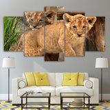 Couple Baby Lions Animal - Mystikz Gaming