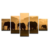 Unset Steppe Elephant Group Animal