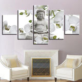 Buddha And Flower White Butterfly Orchid - Mystikz Gaming