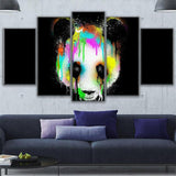 Panda Bear Head Color Abstract Animal - Mystikz Gaming