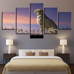 Leopard Sunset Glow Animal - Mystikz Gaming