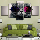 Lovely Animal Cat With Sunglasses - Mystikz Gaming
