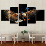Home Animal Eagle Flying Painting On For - Mystikz Gaming