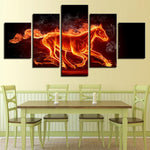 Abstract Fire Horse Flame Animal - Mystikz Gaming