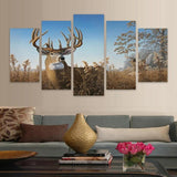 Elk Grazing Fashion Deer Abstract - Mystikz Gaming