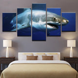 Blue Ocean White Shark Animal Animal - Mystikz Gaming