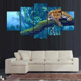 Decoration Vintage On And On The 5 Panels Animal Leopard - Mystikz Gaming