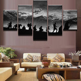 Lord of the Rings 5 Piece Canvas Art