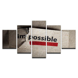 Impossible Letters Inspirational Quotes - Mystikz Gaming