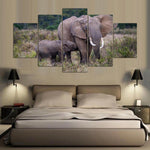 Painting Africa Elephant Tree Landscape - Mystikz Gaming