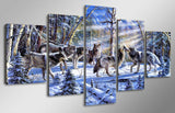Art Live Wallations Landscape Oil Animal Wolf - Mystikz Gaming