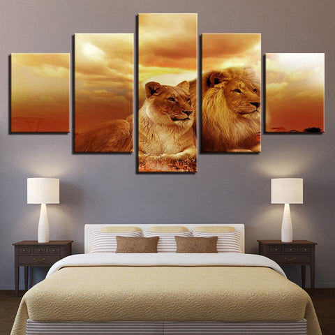 Sunset King Of The Forest Lions