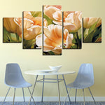 Graceful Champagne Tulips Flower Abstract - Mystikz Gaming