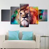 Color Abstract Animal Lion - Mystikz Gaming