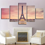 Home Paris Eiffel Tower Sunset Scenery - Mystikz Gaming