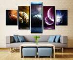 Venus Jupiter Mars Planet Mercury Starry Sky Art Art