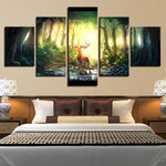 Forest Animal Deer Bucks Abstract Landscape - Mystikz Gaming