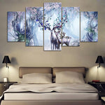 Abstract Beautiful Flower Deer Family Fantastic - Mystikz Gaming