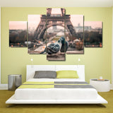 Paris Eiffel Tower Romantic Doves Couple - Mystikz Gaming