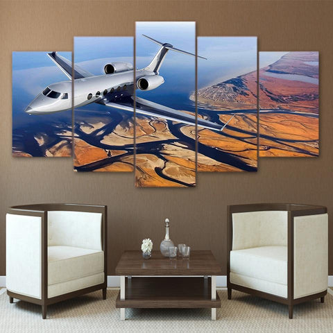 Flying Aircraft River Scenery Painting - Mystikz Gaming